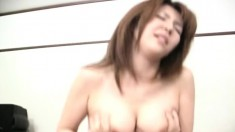 Naughty Japanese babe can't get enough of a hard dick filling her twat
