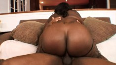 Chunky ebony lady Kitten has needs that only a black shaft can satisfy