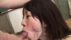 Japanese slave girl screams in pleasure under her master's care