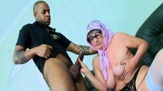 Granny Sally gets horny and has some fun with a young boy toy