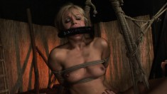 Sexy blonde milf Szilvia gets dominated and fucked like she deserves