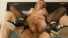 Charlee rides that dick with such desire that her whole body trembles with delight