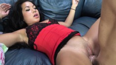 Exotic cutie with nice tits gets her wet pussy stuffed with hard meat