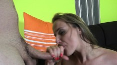 Andrea And Melinda Work On One Lucky Dick With Mouths And Cunts