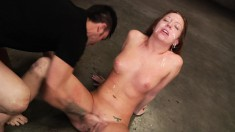 Maddy Worships A Few Long Poles And Takes A Heavy Cumload On Her Face