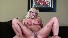 Stacked blonde cougar has a passion for young meat and rough anal sex