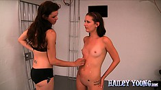 Two hot vixens are doing nasty things in a room with sexual toys