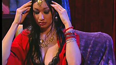Kylie Ireland proves the psychic right when she gets a piece of dark meat