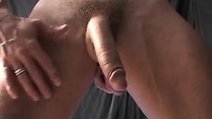 Thomas Bjorn exposes his hot body, drills his ass with a dildo and pleases his dick