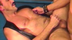A couple of twinks get some rough anal punishment in a group session
