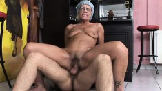 Naughty grandma is never too old to have her loose pussy pounded
