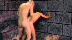 Submissive prisoner takes a brutal pounding from his tough cellmate