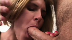Dazzling blonde mom with awesome big boobs needs to get drilled hard