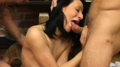 Mature Woman Takes On Two Guys At Once