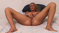 Blonde amateur with a petite rack gets fucked in a POV video