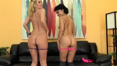 Ravishing girls Mia and Aaliyah savor the taste of each other's cunts