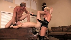 Mmf Threesome With A Bisexual Blowjob