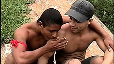 Exotic Latino boys get into a hot out-of-control gay anal orgy