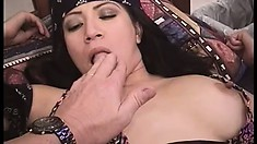 Busty Asian babe Marina Alexis loves how that cock explores every inch of her ass