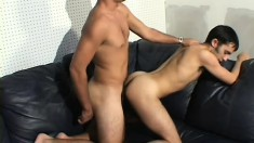 Two gay strangers get right down to some anal action in a steamy scene